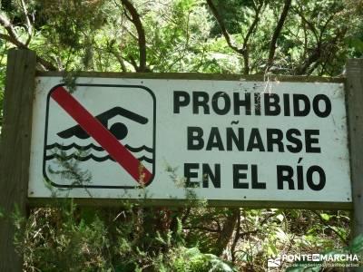 Entre el Puerto y Chorro de Navafría;excursiones guadalajara ruta por patones plano de la pedriza